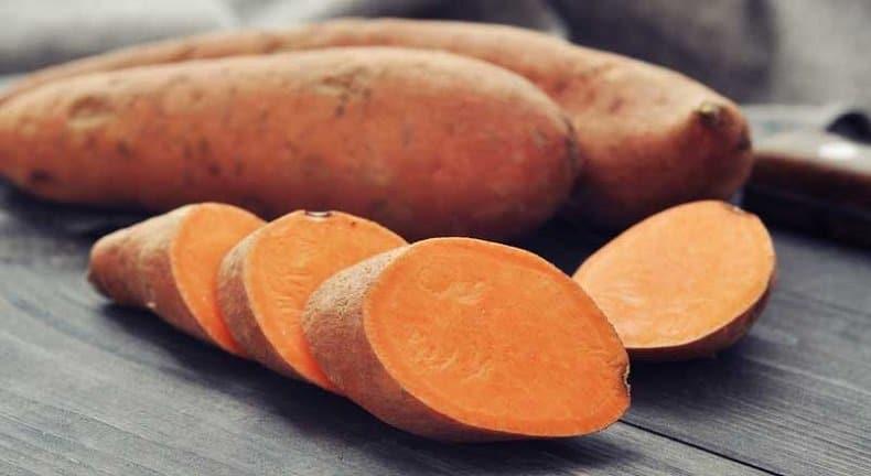 Fibres dans la patate douce