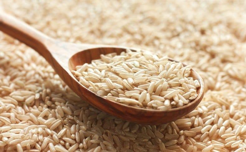 Fibres dans le riz complet